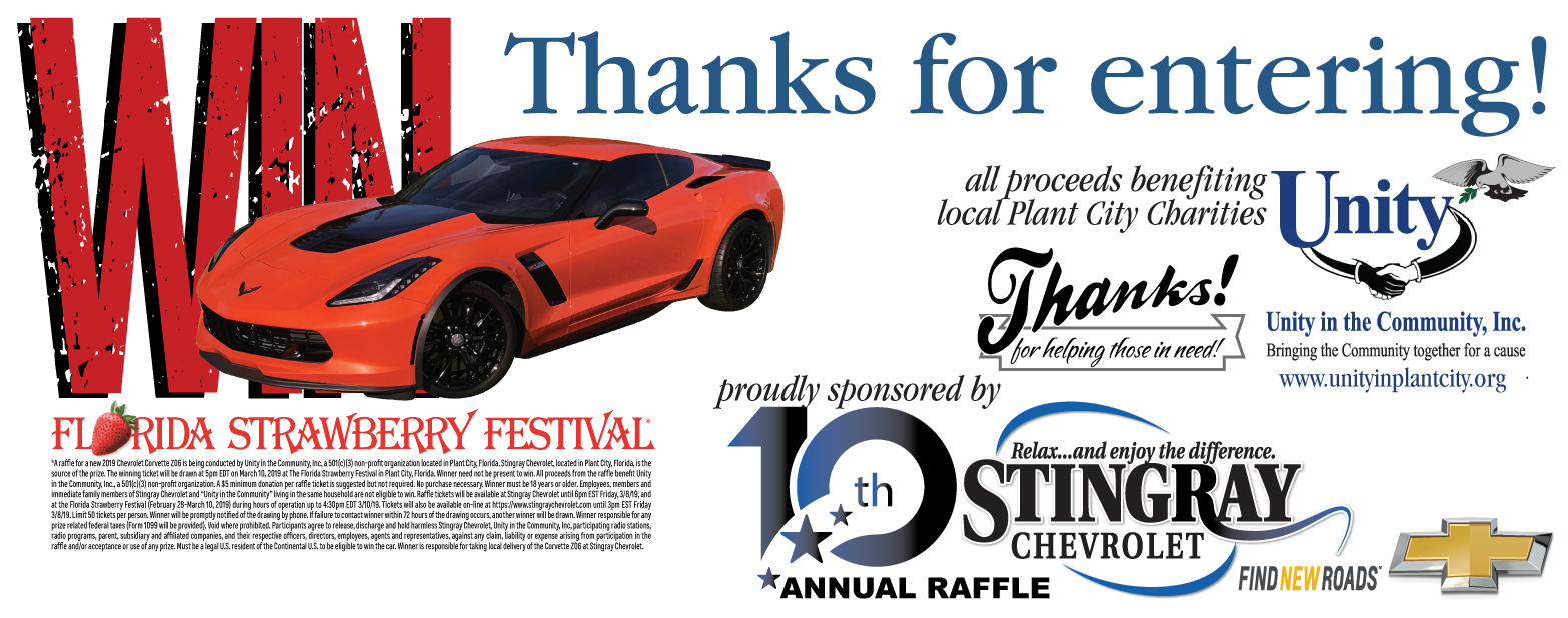 2019 Chevrolet Corvette Z06 Raffle l Plant, City, FL