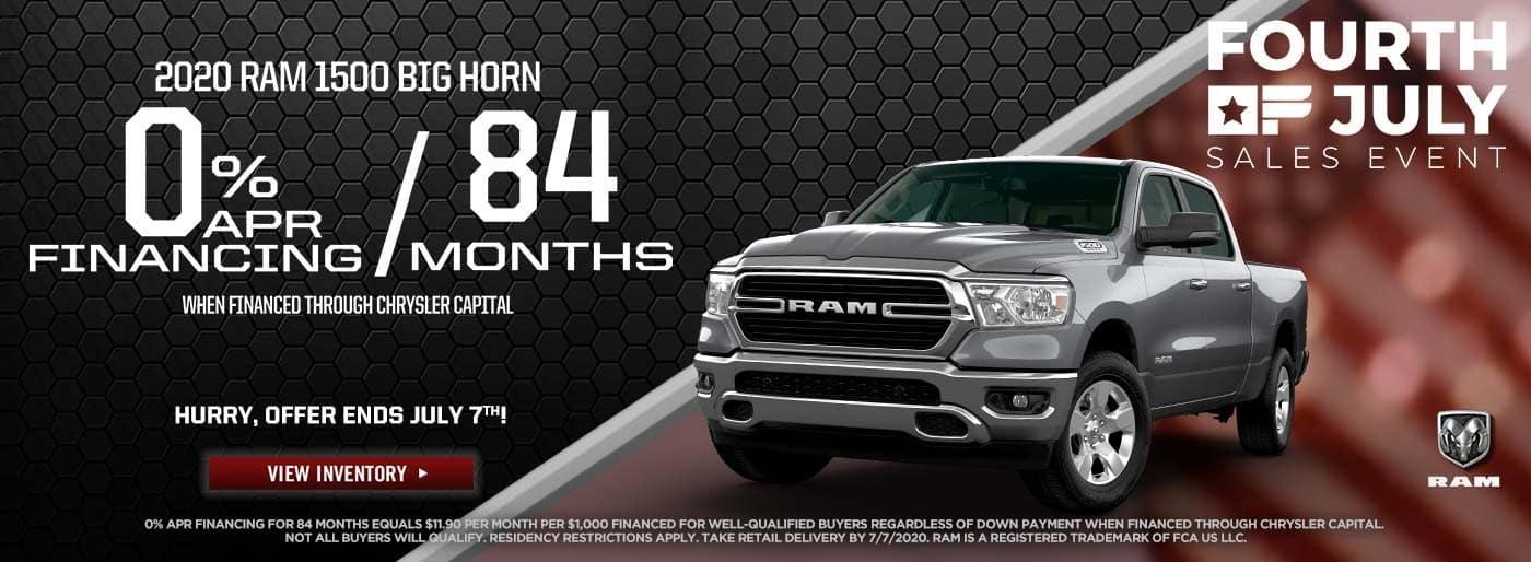 2020 RAM 1500 BIG HORN | Tate Branch Artesia