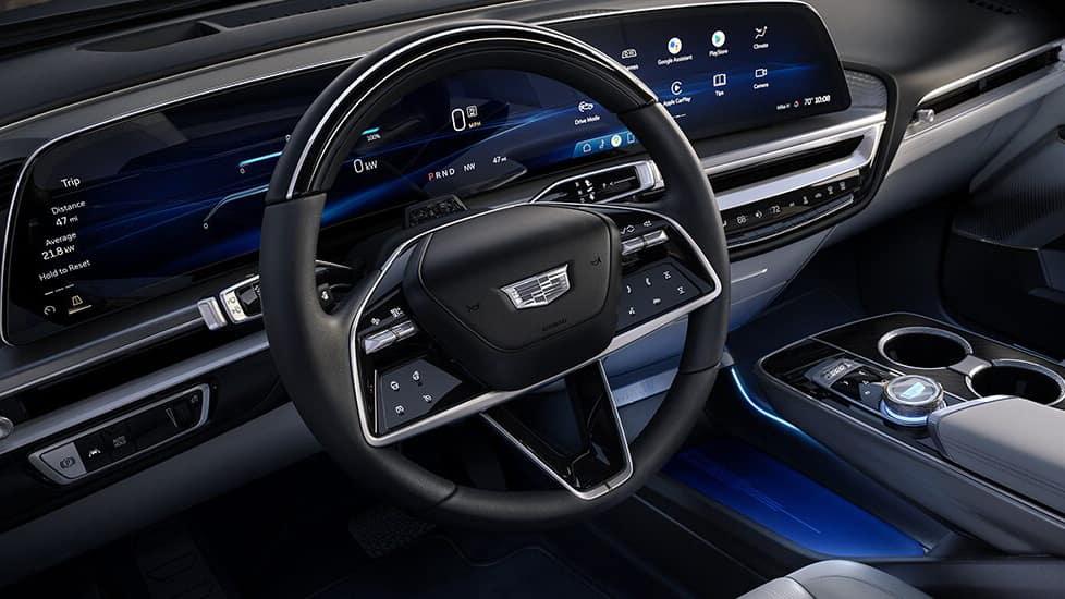 Interior of the 2023 Cadillac LYRIQ