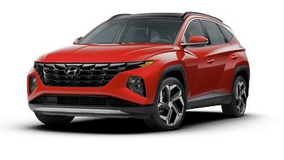 2022 Hyundai TUCSON N Line in red.