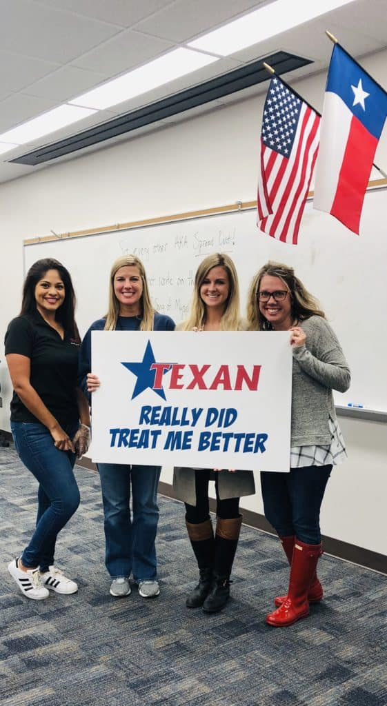 Texan supports local education