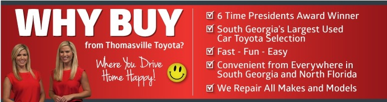 Why Buy from Thomasville Toyota? Click to Learn More