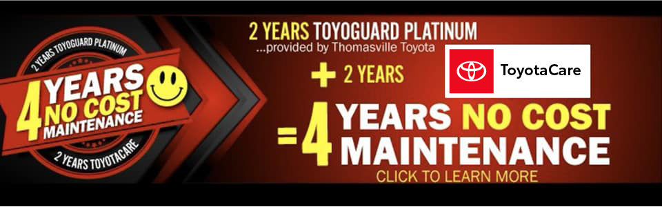 4 Years No Cost Maintenance - Click to Learn More