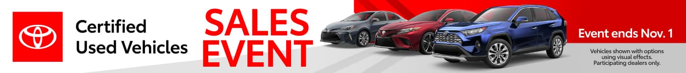 Certified Used Vehicles Sales Event - Event Ends November 1