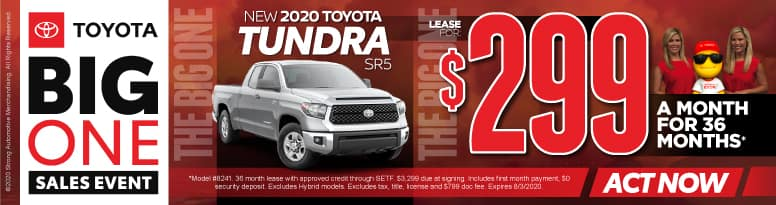 New 2020 Toyota Tundra - Lease for $299 a month for 36 months - Click to View Inventory