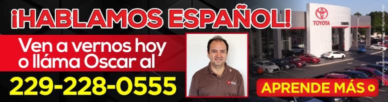 ¡HABLAMOS ESPAÑOL! Ven a vernos hoy o lláma Oscar al 229-228-0555. APRENDE MÁS.