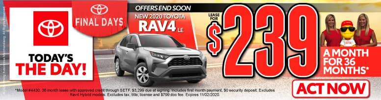 New 2020 Toyota RAV4 - Lease for $239 a month - Click to View Inventory