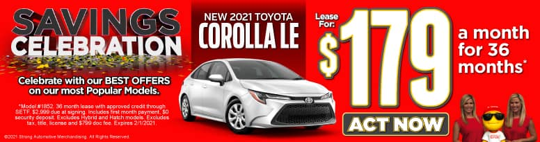 New 2021 Toyota Corolla | Lease for $179 a month | Act Now