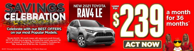 New 2021 Toyota RAV4 | Lease for $239 a month | Act Now