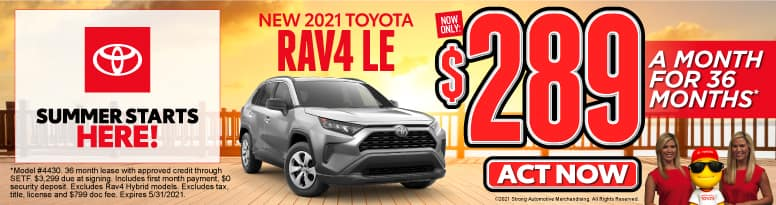 New 2021 Toyota RAV4 - Now Only $289 a month - Act Now