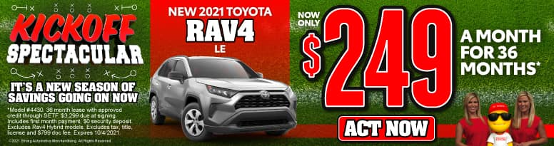 New 2021 Toyota RAV4 - Now Only $249 a month - Act Now