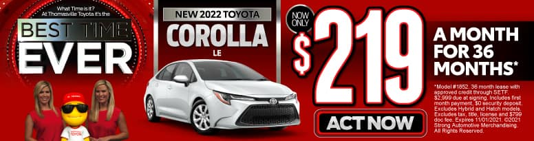 New 2022 Toyota Corolla - Now Only $219 a month - Act Now