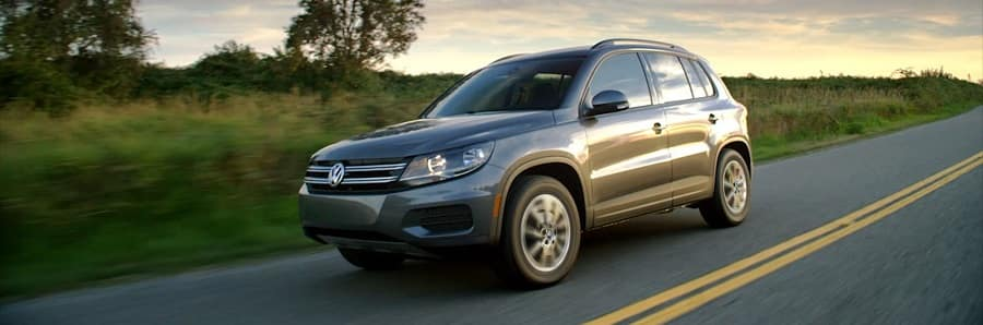 2018 VW Tiguan with Platinum Gray Metallic exterior