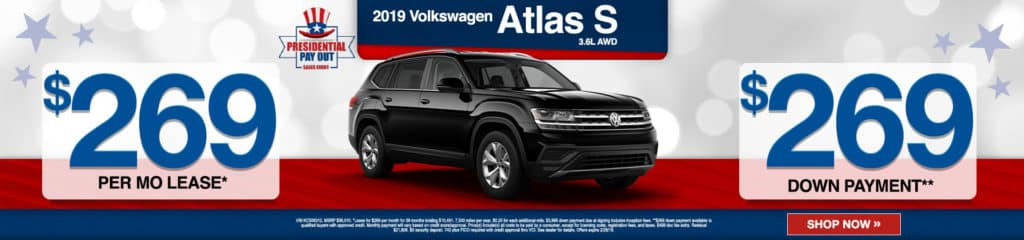 New 2019 Volkswagen Atlas 3.6L V6 S AWD