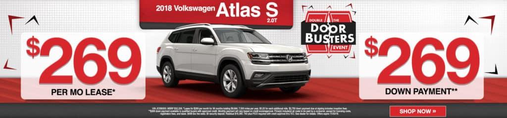 2018 VW Atlas S 2.0T