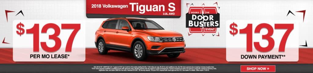 2018 VW Tiguan S 2.0L AWD
