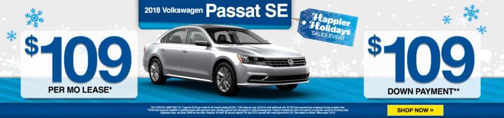 New 2018 Volkswagen Passat 2.0T SE FWD 4dr Car