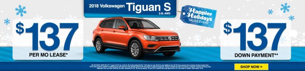 New 2018 Volkswagen Tiguan S AWD