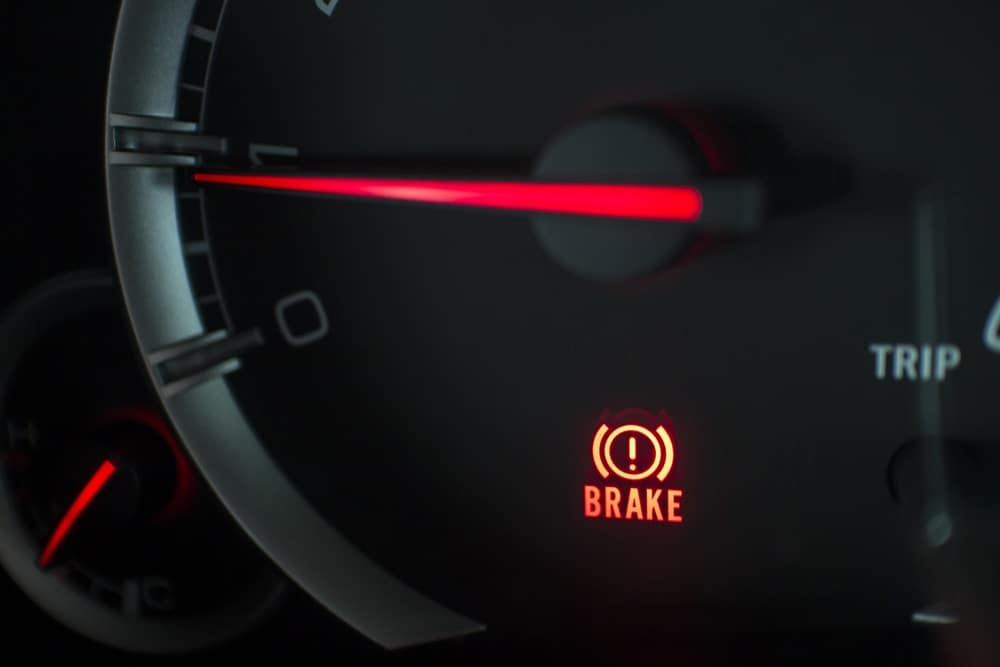Brake warning light flashing on car in Toms River, NJ