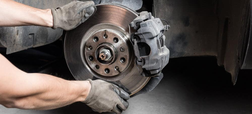 Repairing brakes on a car in Toms River, NJ