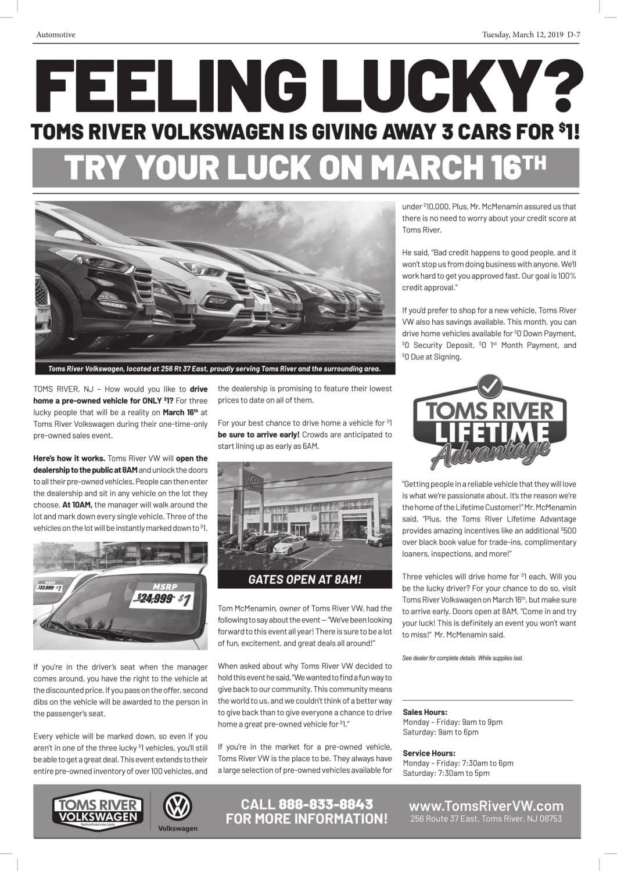 Rally Motor Credit >> Toms River Volkswagen Sales Event Toms River Volkswagen