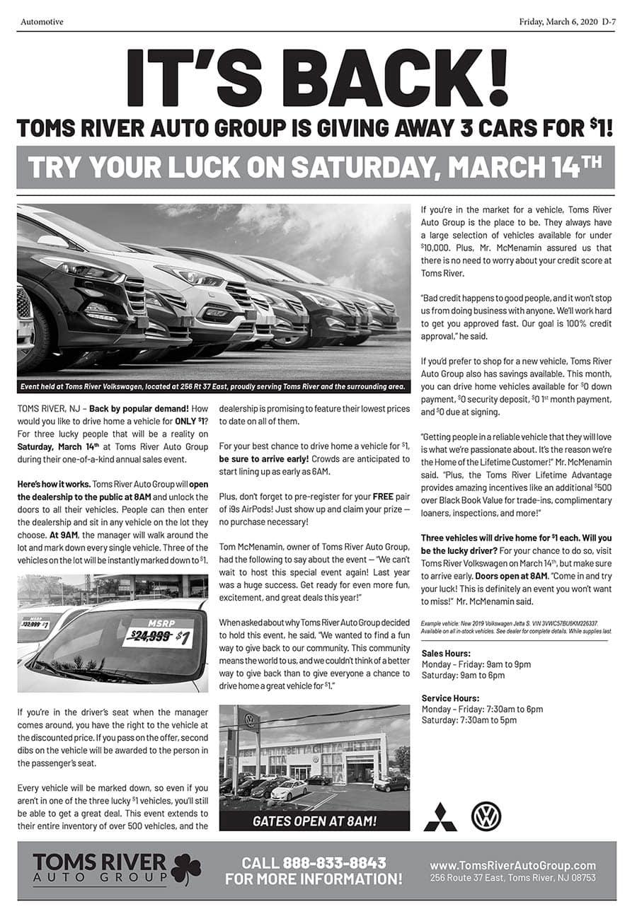 Volkswagen Sales Event   Toms River, NJ