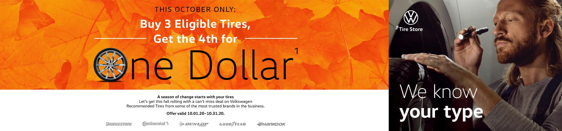 VW Tire Offers October
