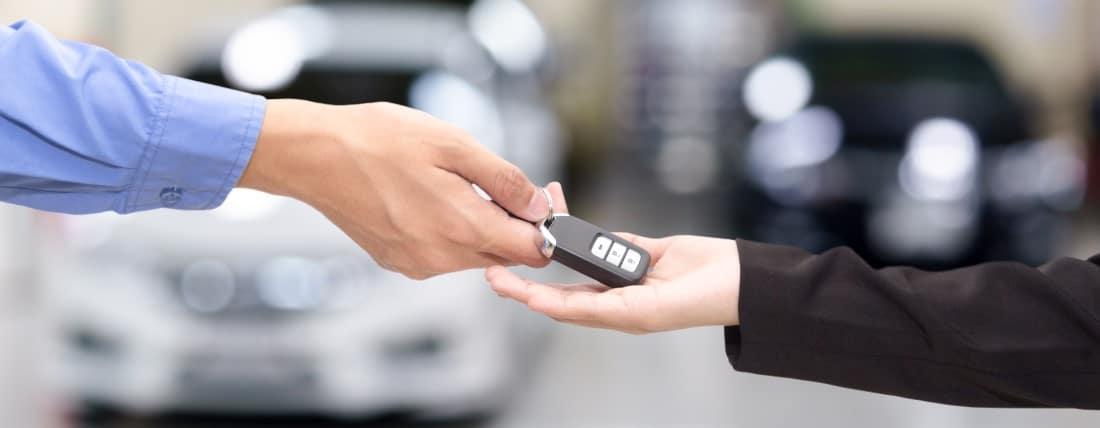Trading in set of car keys