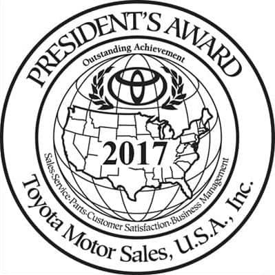 Presidents Award Winner For 2017