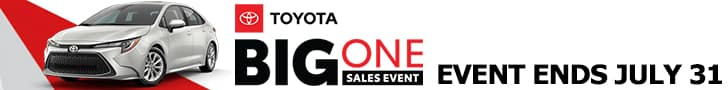 Toyota Big One Event! Click to view offers.