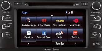 Entune popular apps