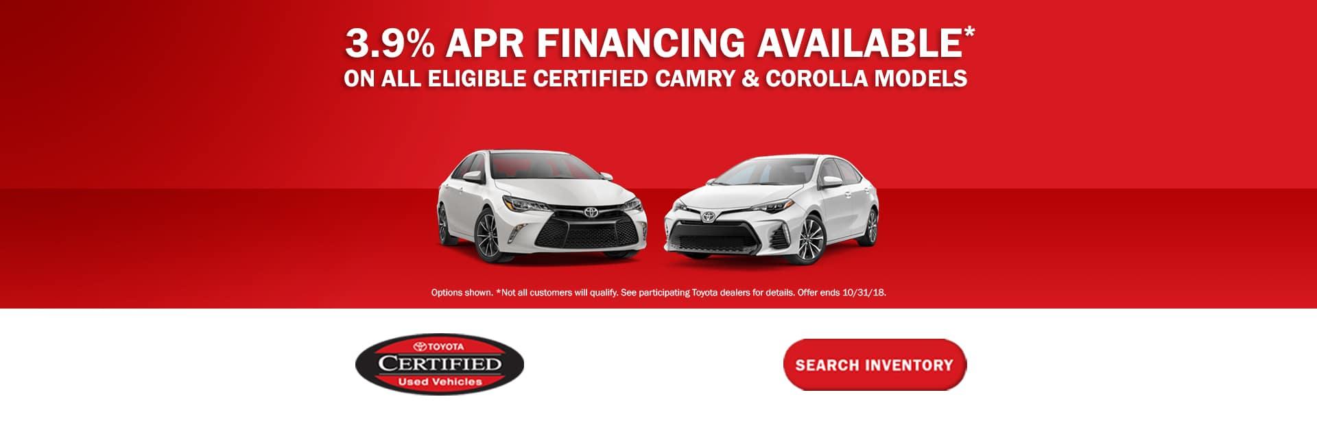 3.9% APR Financing