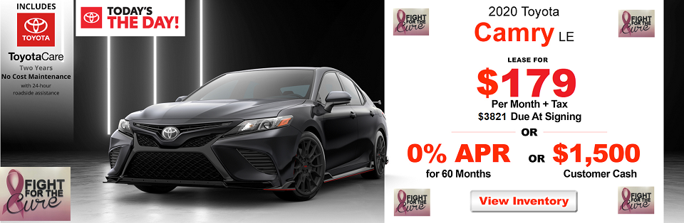 Toyota of Redands 2020 Camry LE Offer