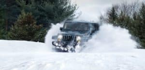 uftring jeep in the snow