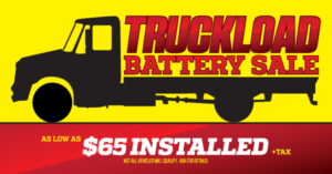 Truckload Battery Sale