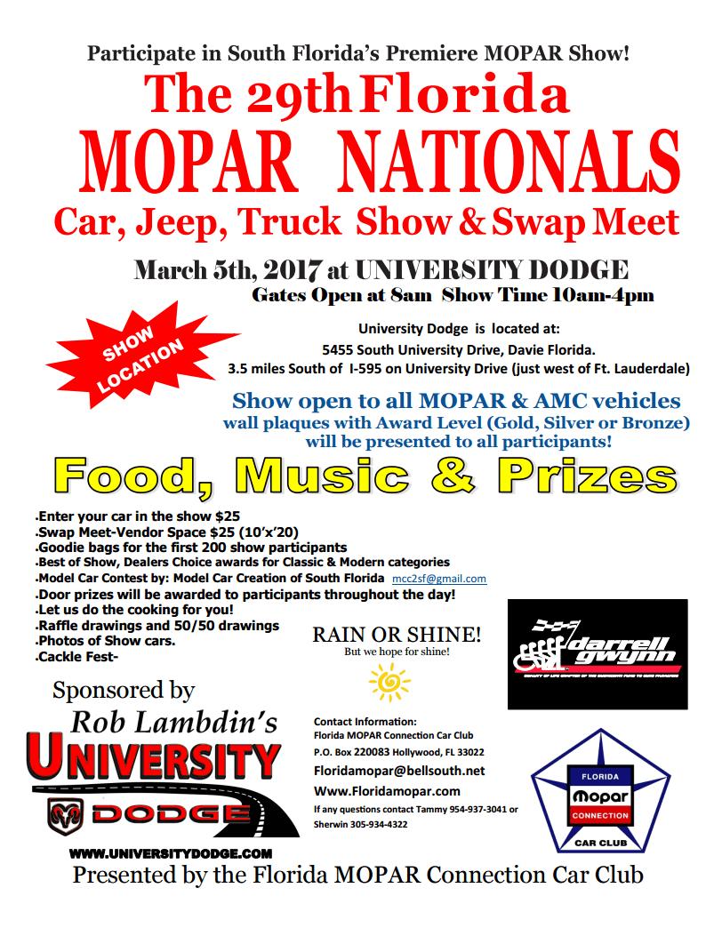 29th annual mopar car show university dodge ram