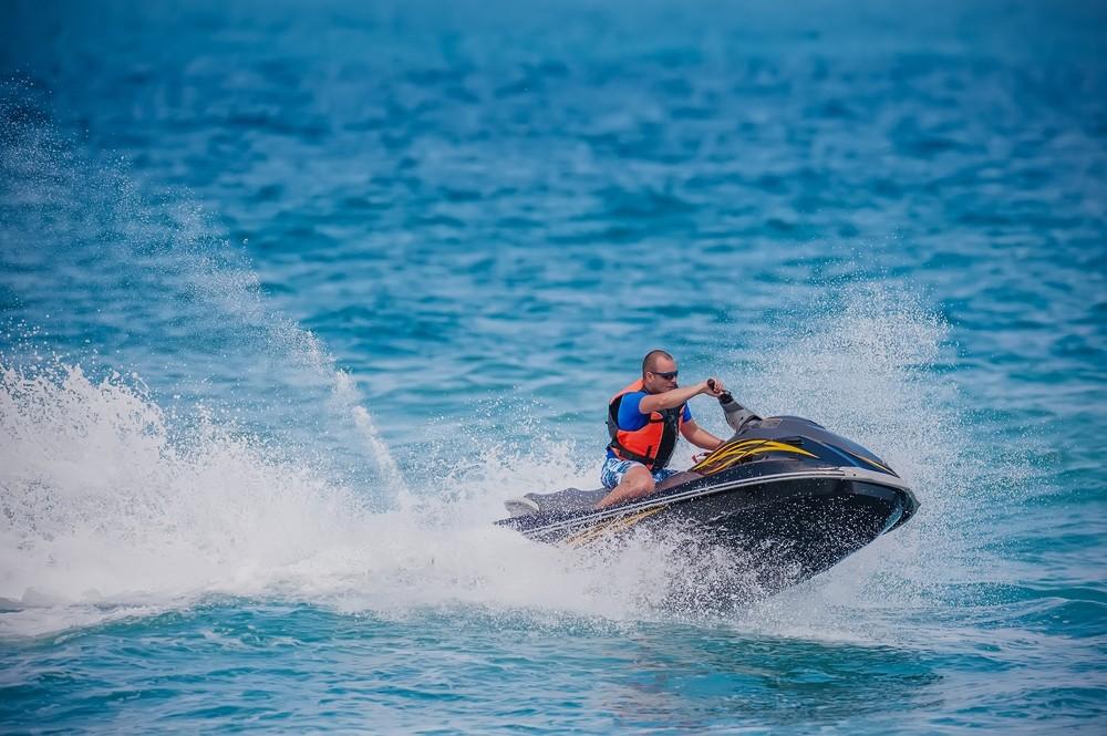 towing a jet ski