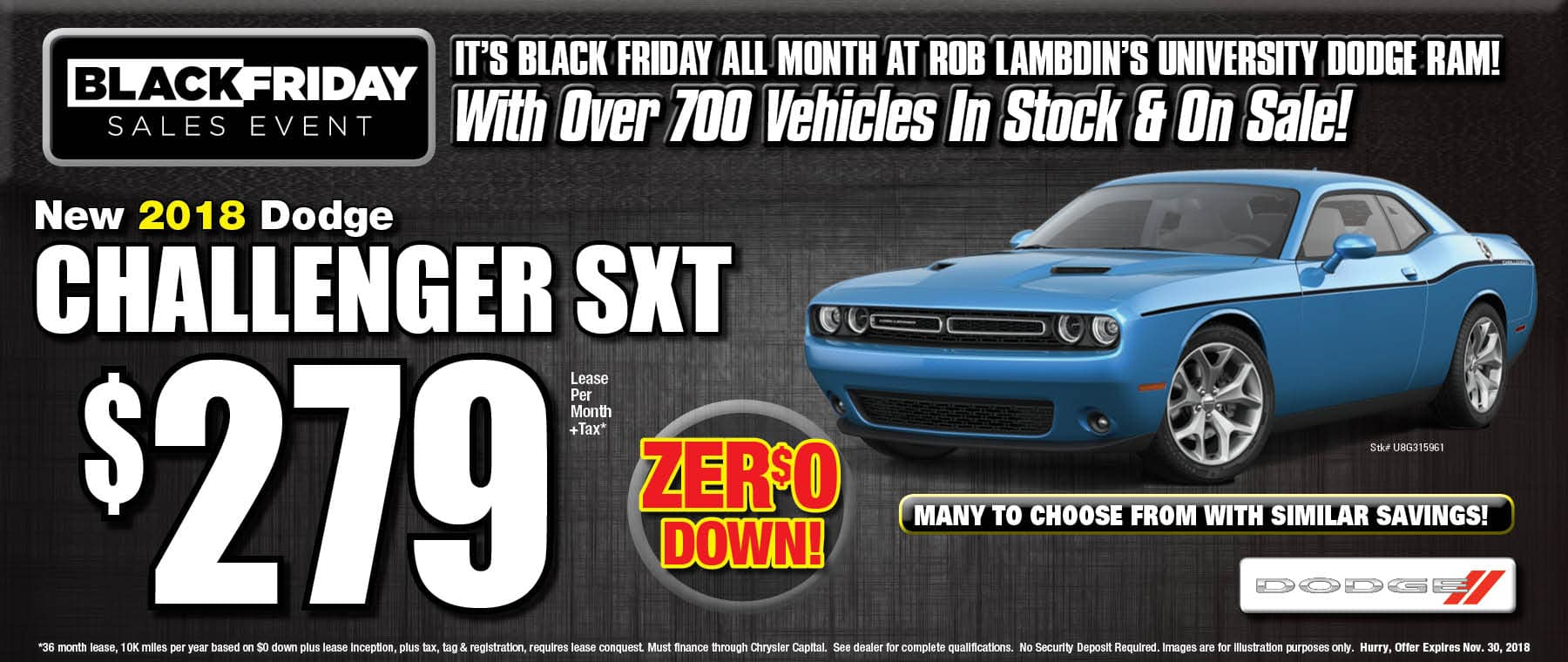 Challenger $279 Lease