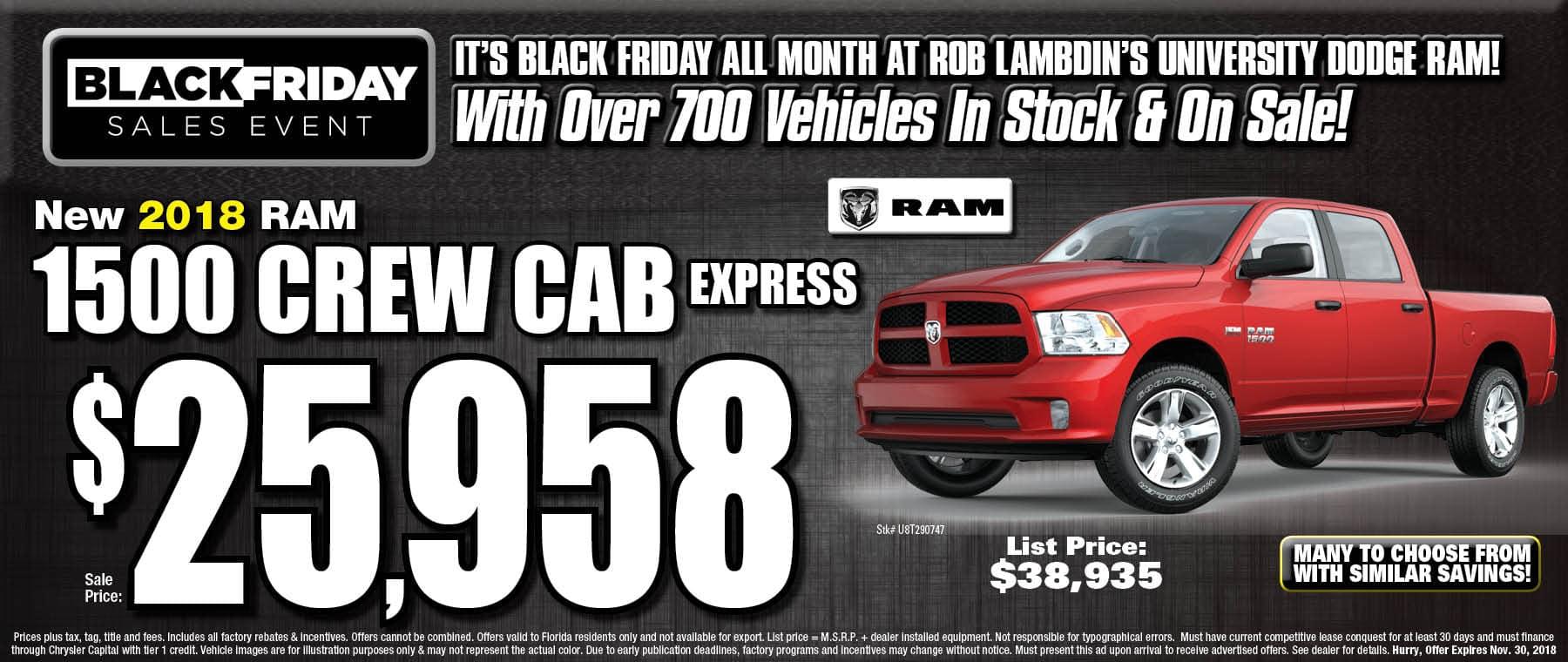 Ram 1500 $25958
