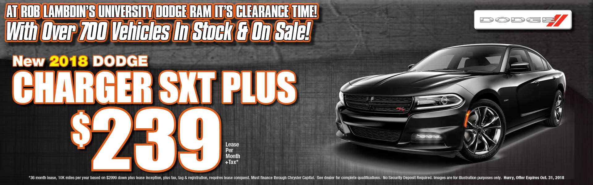 Charger SXT Lease $239