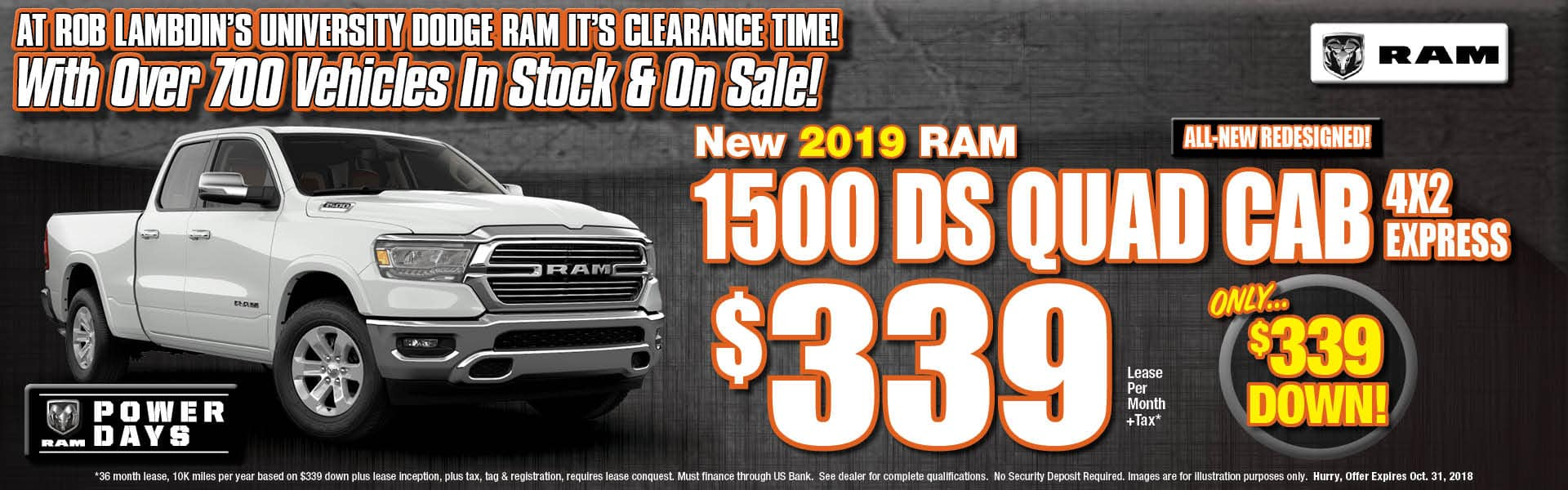 Ram 1500 DS Express Lease $339