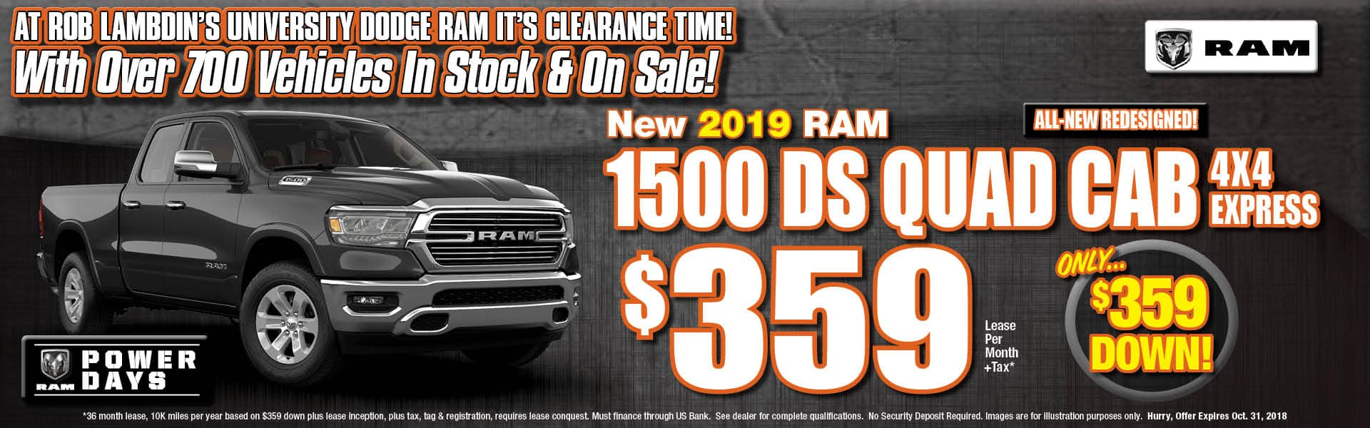 Ram 1500 DS Express Lease $359