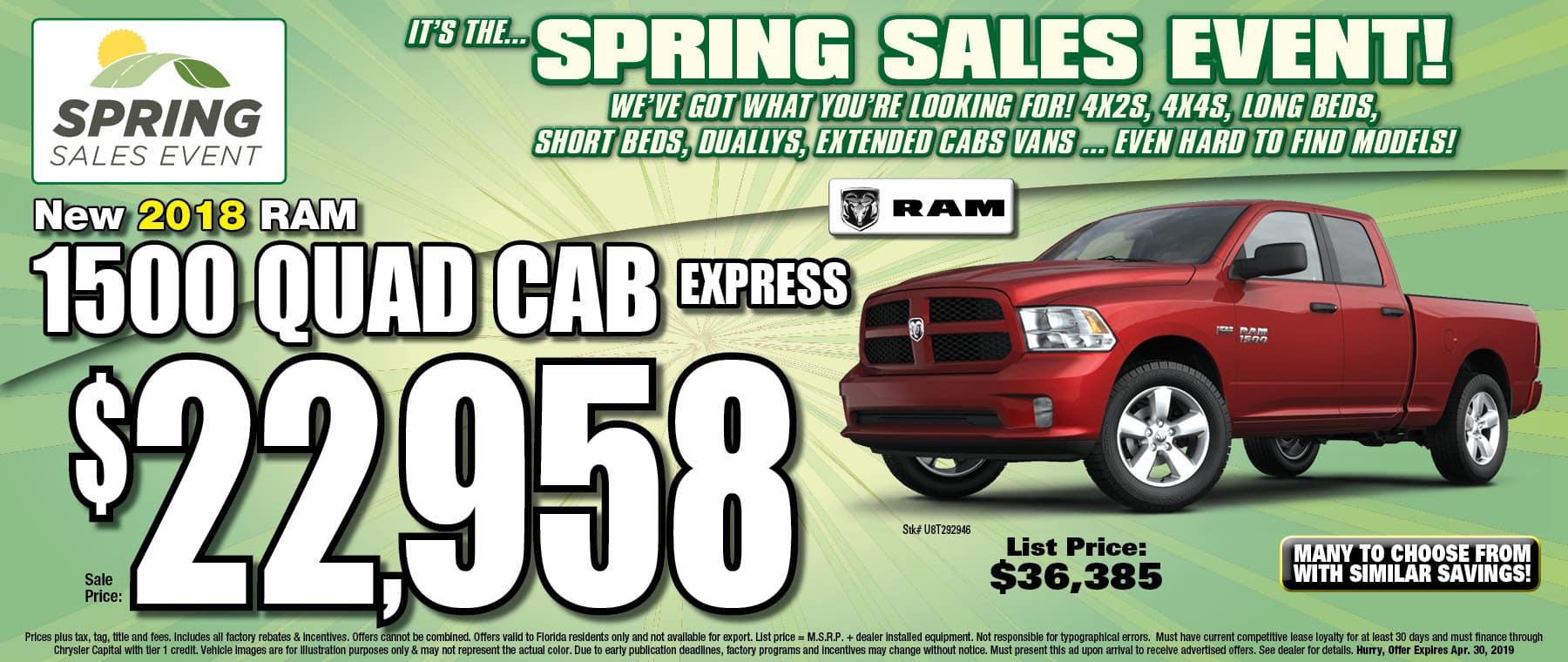RAM Quad Cab Express Trucks! - At University Dodge RAM!