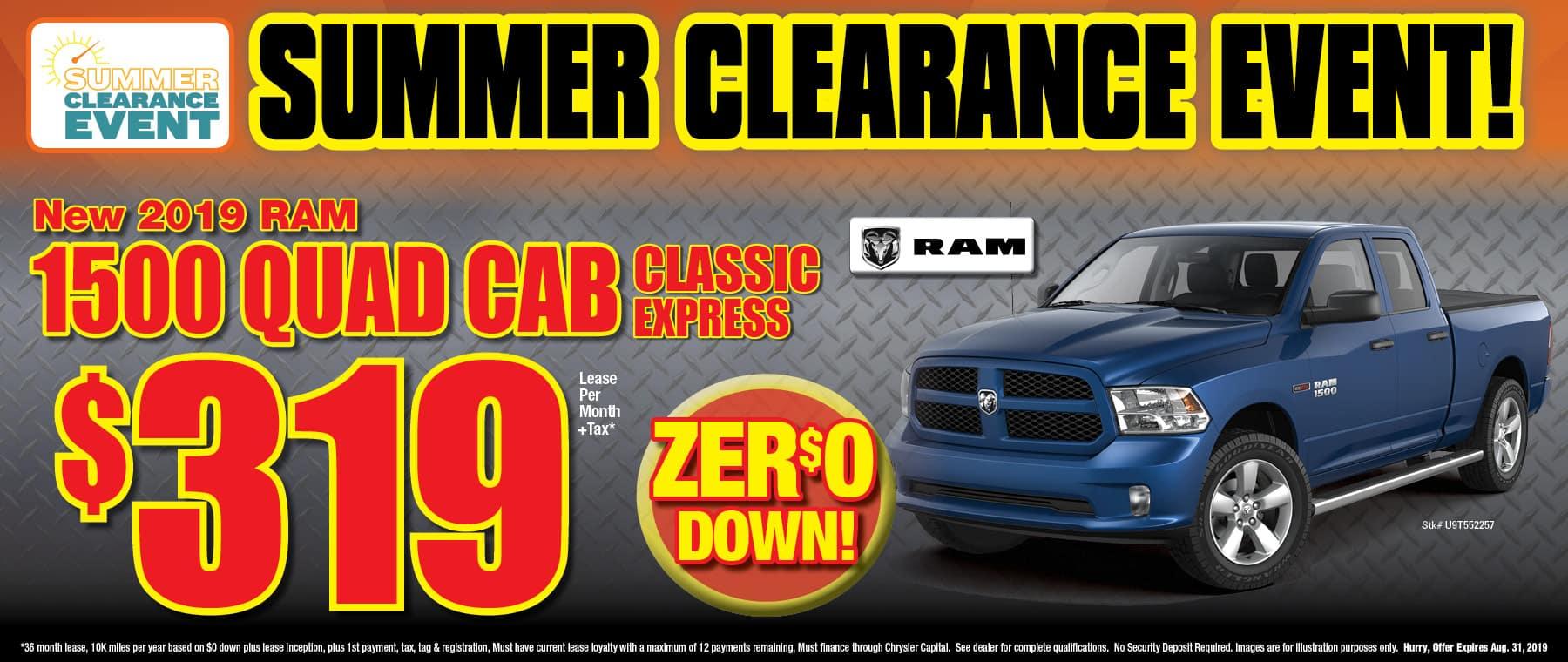 All New 2019 Ram Quad Cab Classic!