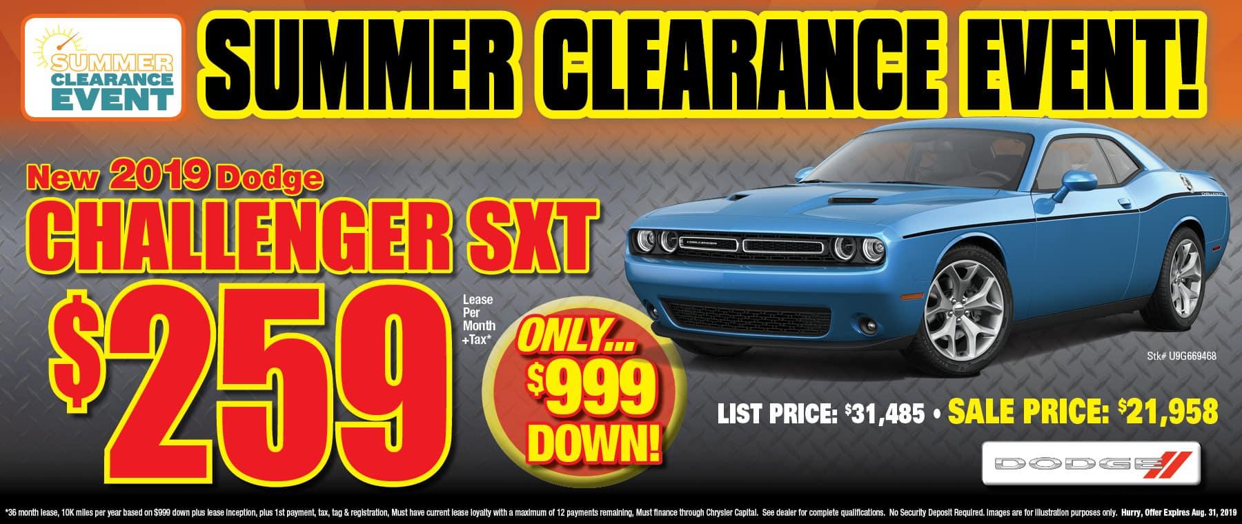New 2019 Dodge Challenger!