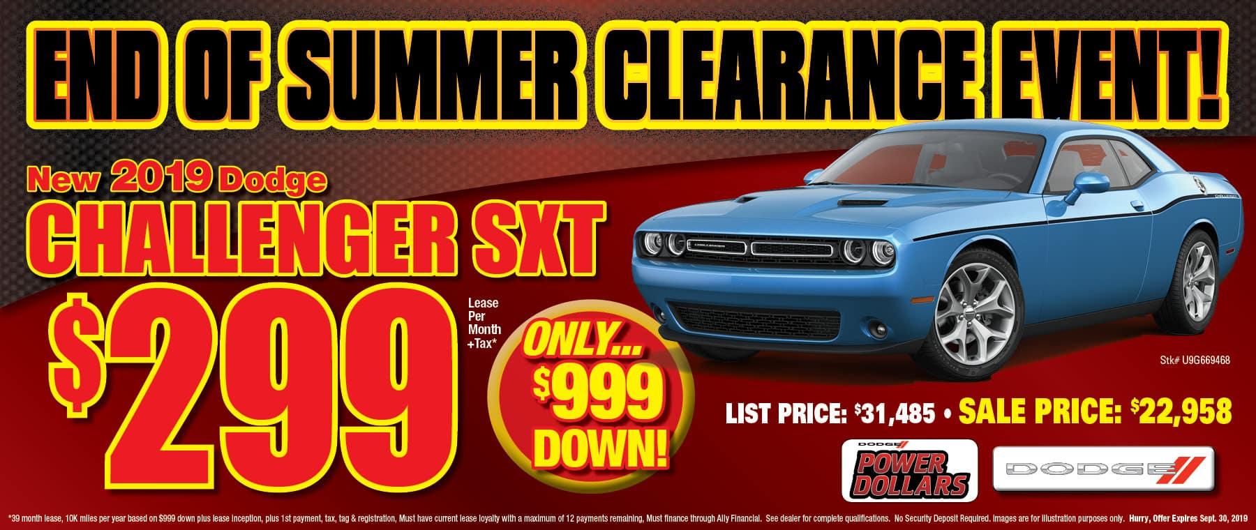 New 2019 Dodge Challenger SXT!
