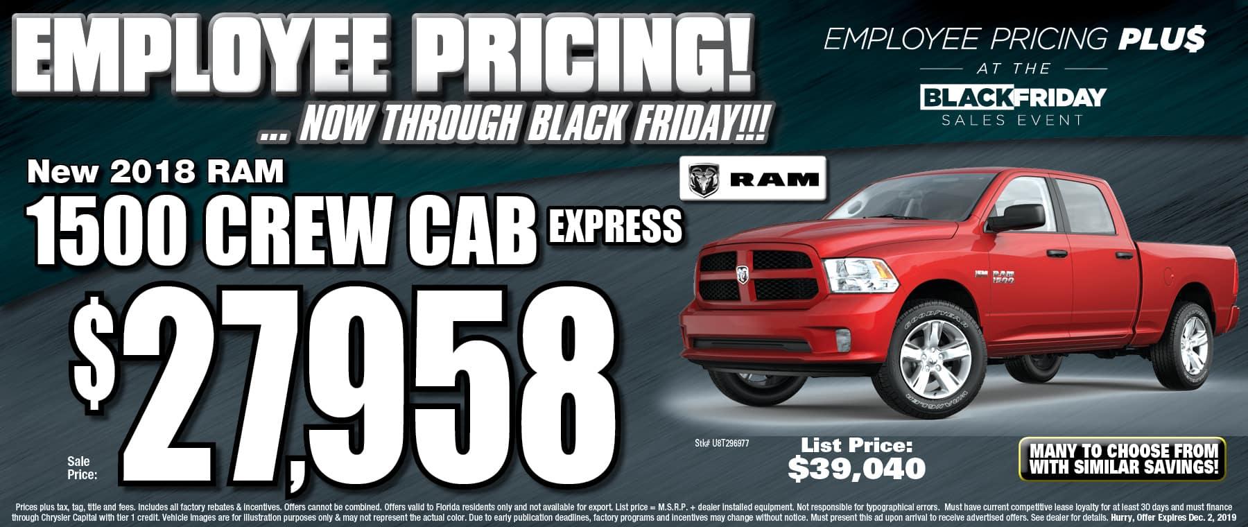 New 2018 Ram Crew Cab Express!