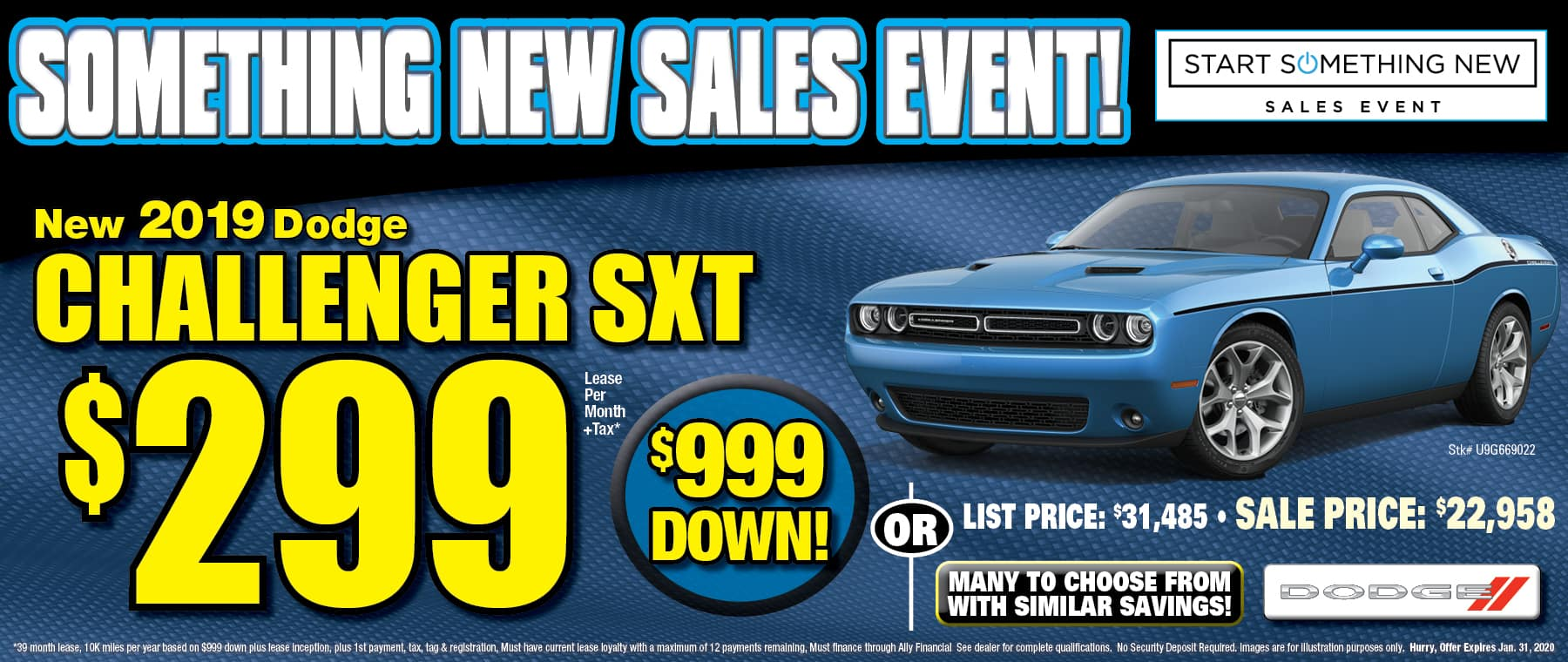 New Dodge Challenger SXT!