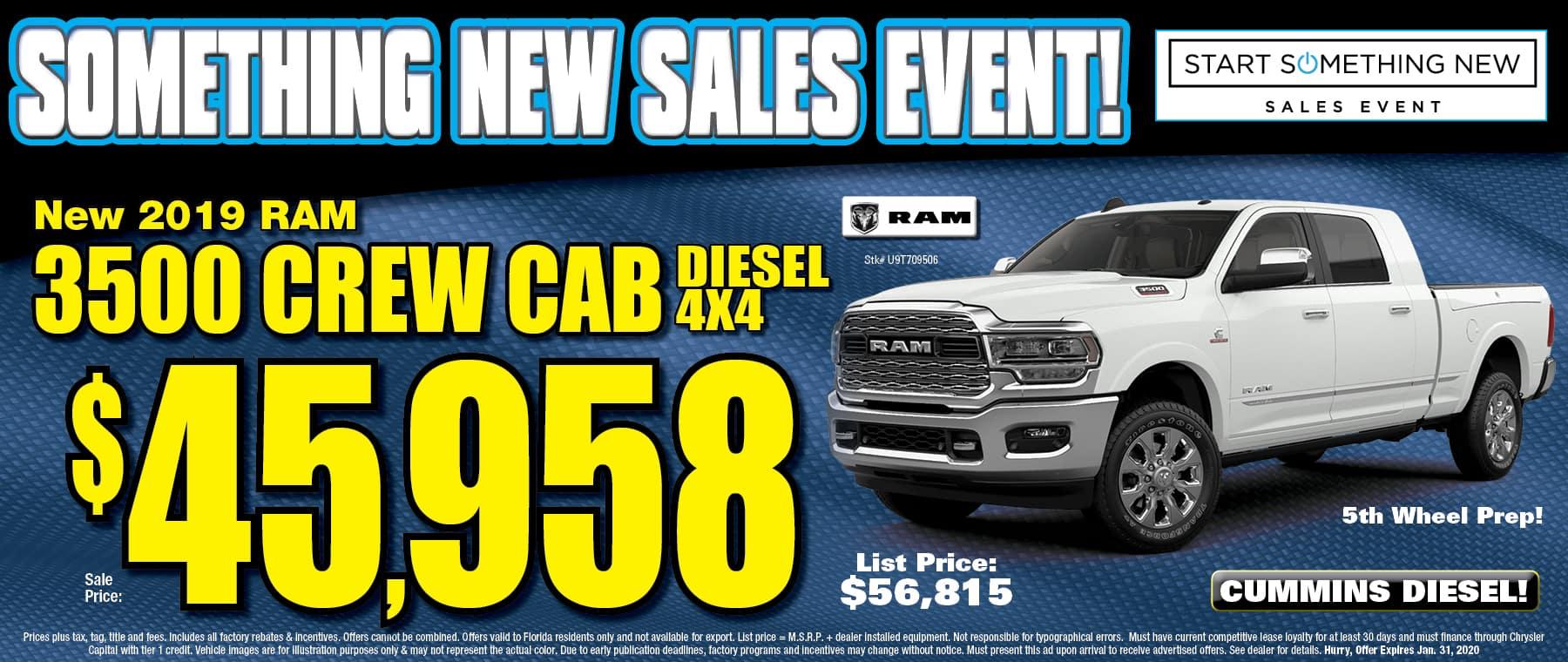 New Ram Crew Cab Diesels!
