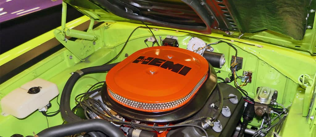 race hemi orange engine university dodge